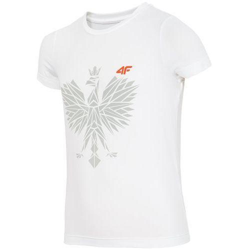 Koszulka kibica dla małych dziewczynek JTSD301z - biały