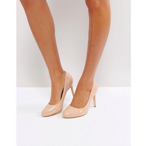 round toe point high heels - beige marki London rebel