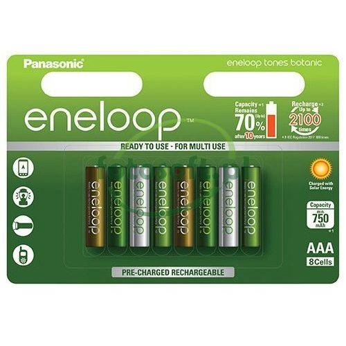 8 x akumulatorki eneloop tones botanic r03/aaa 800mah (blister) marki Panasonic
