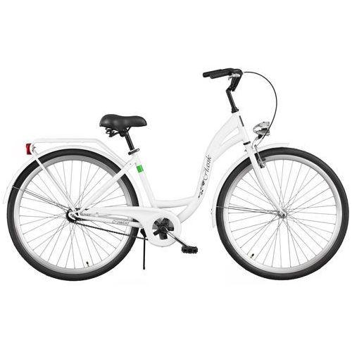 Rower  retro s1b biały + darmowy transport! + zamów z dostawą jutro! + odjazdowa oferta cenowa! + 5 lat gwarancji na ramę! marki Dawstar