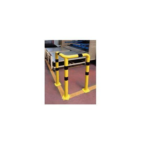 Barierka do ochrony narożników kątowa 3-nożna - żółto-czarna - produkt z kategorii- Pozostałe artykuły BHP