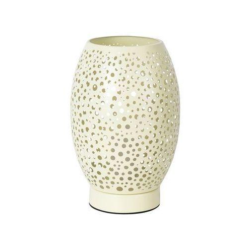Stojąca LAMPA stołowa GERDA 5915 Rabalux nocna LAMPKA biurkowa metalowa ażurowa żółta (5998250359151)