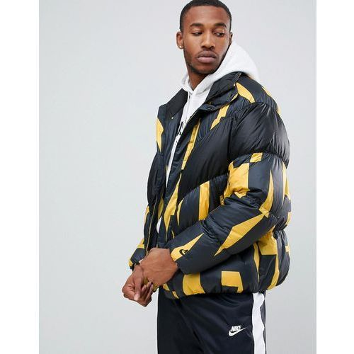 down filled jacket in all over print in yellow 928889-752 - yellow marki Nike