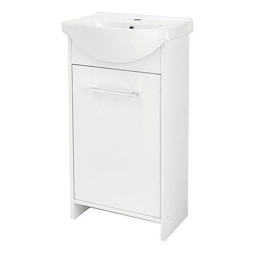 Szafka z umywalką Deftrans Blanka 45 cm biała, 106-D-05015+1120