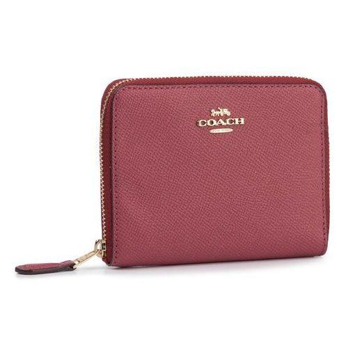 Mały portfel damski - crsgn zp arnd wall 29677 gddpk dusty pink marki Coach