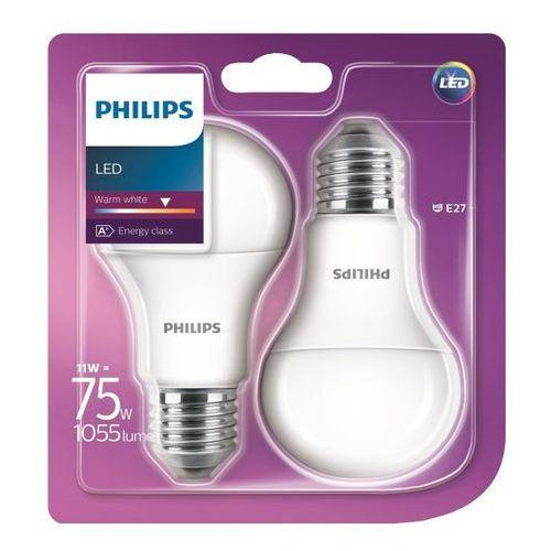 Philips Żarówka led  a60 11 w e27 1055 lm mleczna barwa ciepła 2 szt.