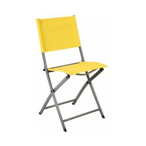 Krzesło ogrodowe składane EMYS NATERIAL żółte