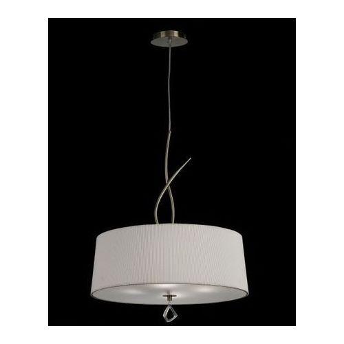 lampa wisząca MARA 4L antyczny mosiądz - kremowy klosz, MANTRA 1624