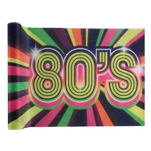 Dekoracja stołu bieżnik 80's lata 80-te - 3 m - 1 szt. marki Santex