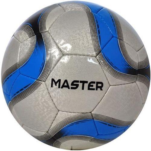 Piłka nożna master szaro-niebieska (rozmiar 5) marki Axer sport