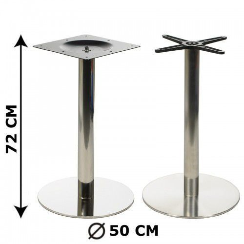 Podstawa stolika fi50, stal nierdzewna polerowana lub szczotkowana (stelaż stolika) - E11/50/P/S