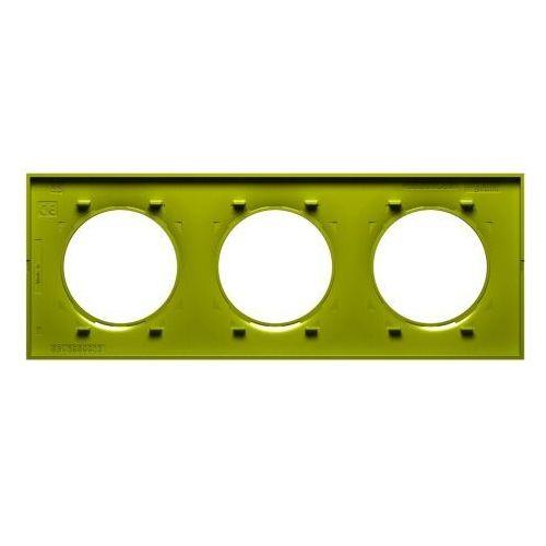 Schneider Ramka potrójna odace styl s52p706h verde seledynowa