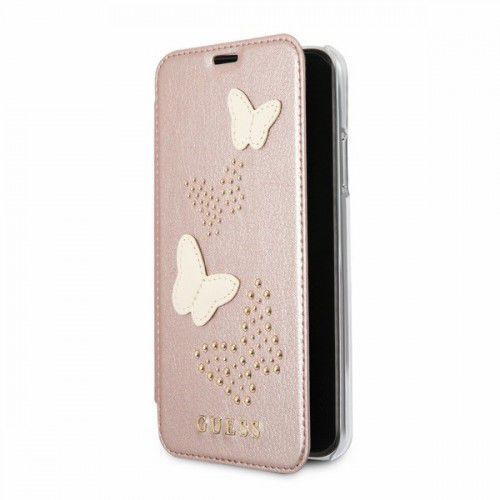 GUESS GUFLBKPXPBURG book iPhone X różowo-złoty Studs&Sparkles, 1_629434
