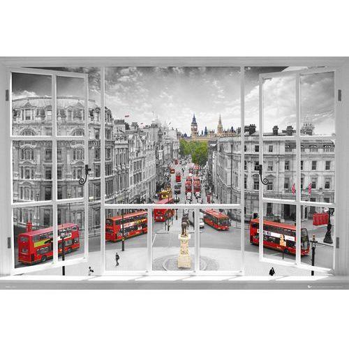 Londyn - widok z okna - Czerwone Autobusy - plakat - sprawdź w wybranym sklepie
