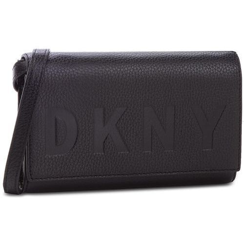Torebka DKNY - Commuter Wallet On A String R835A670 Black/Silver BSV, kolor czarny