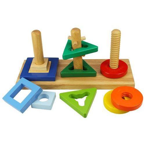 drewniany sorter na patyczkach bj376 marki Bigjigs toys