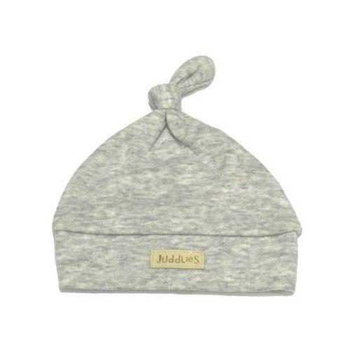 Juddlies czapka niemowlęca light grey flec