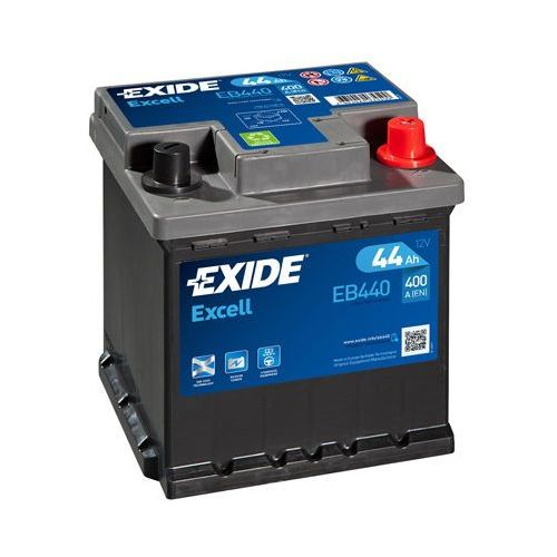 Akumulator Exide 44Ah 400A EB440 P+ Excell