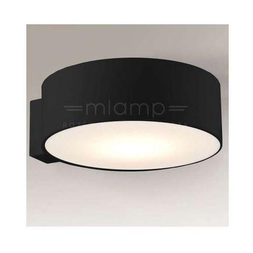 Minimalistyczna lampa ścienna zama 4447/gx53/cz okrągła oprawa downlight czarny marki Shilo