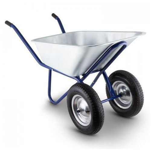 Heavyload taczka 120 l 320 kg taczka ogrodowa 2-kołowa stalowa niebieska marki Waldbeck
