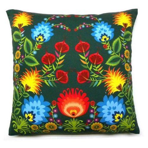 Poduszki dekoracyjne folk, kwiaty łowickie 50x50 (036) marki Pracownia artystyczna