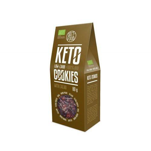 Ciasteczka KETO z kakao BIO 80 g Diet Food (5906660508809)