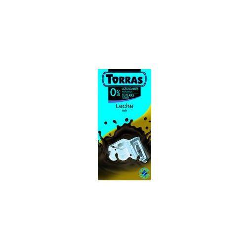 Czekolada mleczna bez cukru 75g marki Torras