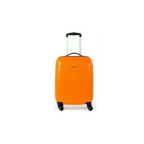 PUCCINI walizka mała/ kabinowa z kolekcji PC005 VOYAGER twarda 4 koła materiał Policarbon zamek szyfrowy z systemem TSA