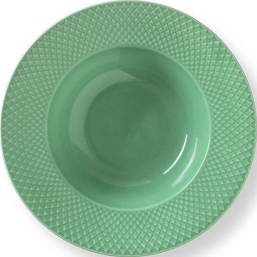 Talerz głęboki Rhombe zielony