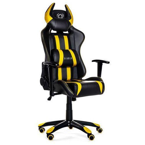 Fotel DIABLO X-One Horn Czarno-żółty + Zamów z DOSTAWĄ JUTRO! + DARMOWY TRANSPORT! (5902560334265)