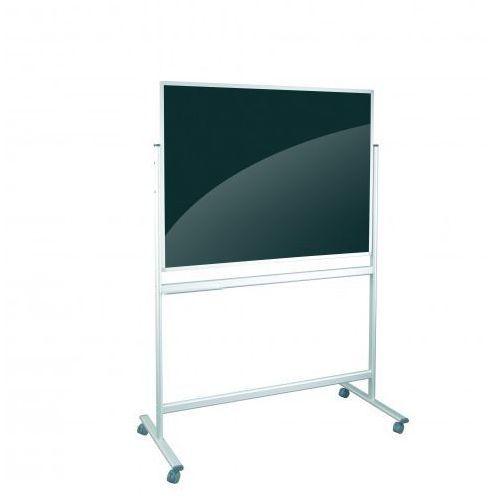 Tablica mobilna szklana czarno/ biała 120x90 magnetycza