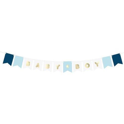 Niebieski baner baby boy - 160 cm - 1 szt. marki Party deco