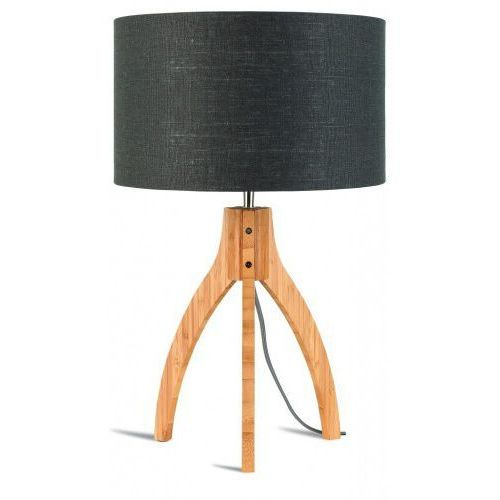 Lampa stołowa Annapurna trójnożna 30cm/abażur 32x20cm, lniany ciemnoszary, ANNAPURNA/T/3220/DG