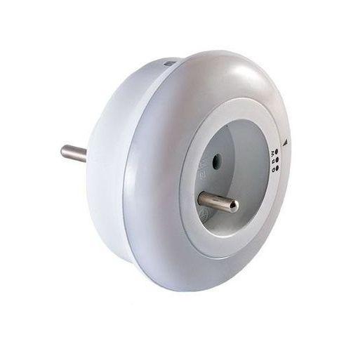 Lampka nocna LED z gniazdem 230V i czujnikiem zmierzchowym ORNO