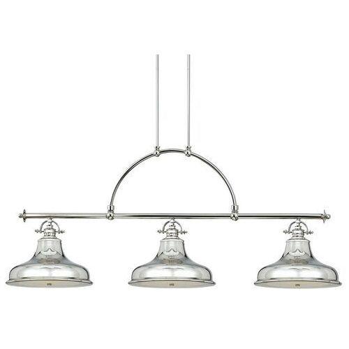 Lampa wisząca emery 3-punktowa srebrna marki Elstead