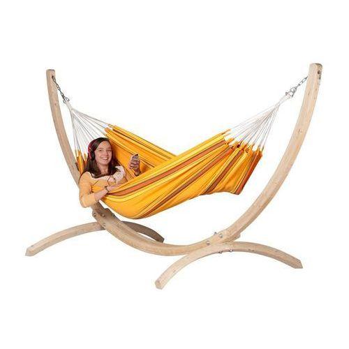 La siesta Zestaw hamakowy: hamak currambera ze stojakiem canoa, pomarańczowy cuh14cns12-1