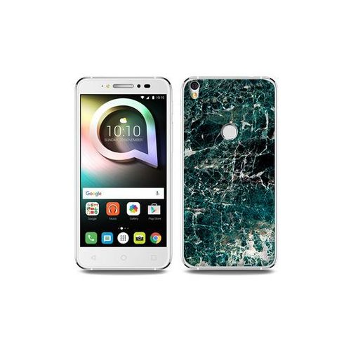 Alcatel Shine Lite - etui na telefon Fantastic Case - zielony marmur, kolor zielony