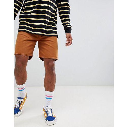 Weekday vacant denim shorts tobacco - brown