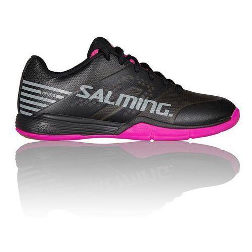 viper 5 women shoe black pink, Salming