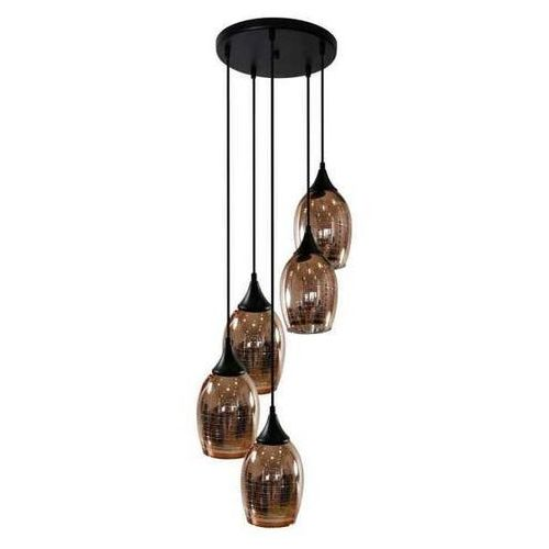 Candellux Lampa wisząca zwis żyrandol marina 5x60w e27 złoty 35-51639 (5906714851639)