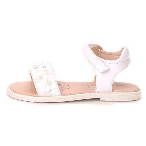 Geox sandały dziewczęce Karly 30 biały (8051516606455)