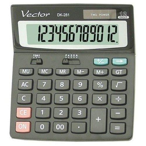 Vector Kalkulator dk-281 blk (5904329496108)