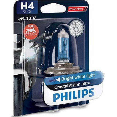 Żarówka motocyklowa h4 crystalvision ultra moto | 12v 60/55w p43t-38 marki Philips®