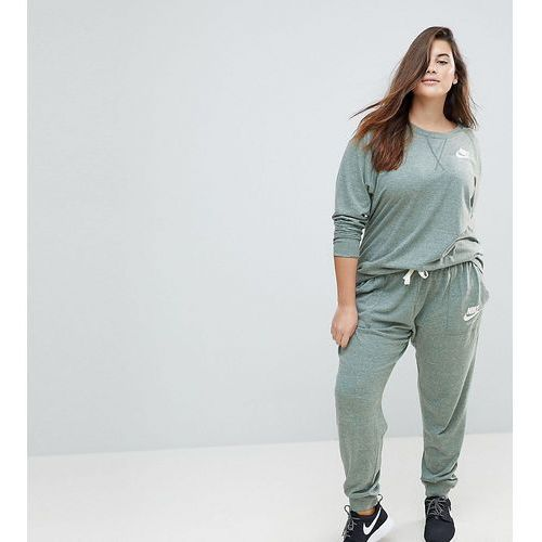 Nike plus gym vintage sweat pants in green - green
