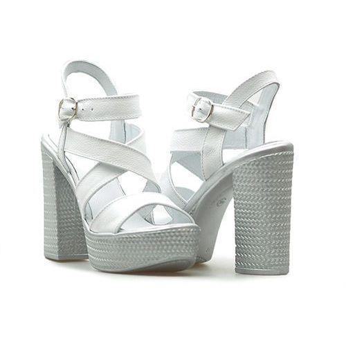 Sandały Simen 0783 Faeda białe
