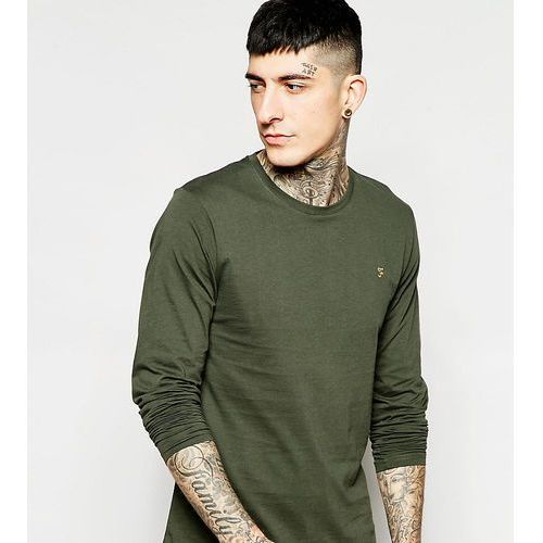 Farah farris slim fit logo t-shirt in dark green exclusive at asos - green