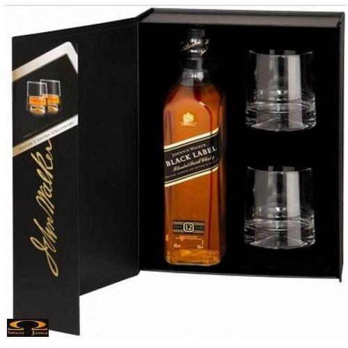Johnnie walker Whisky black label 0,7 l. + 2 szklanki
