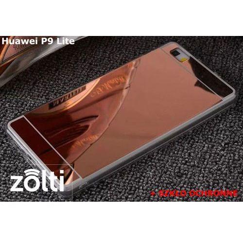 Zestaw   slim mirror case różowy + szkło ochronne perfect glass   etui dla huawei p9 lite marki Slim mirror / perfect glass