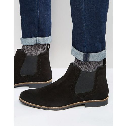 Red Tape Chelsea Boots Black Suede - Black