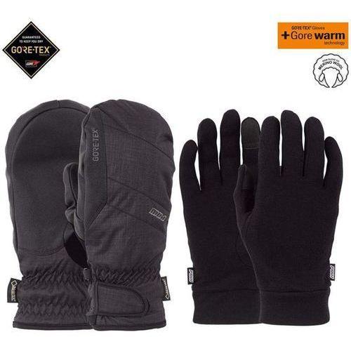 Pow - warner gtx short mitt + warm black (bk) rozmiar: l